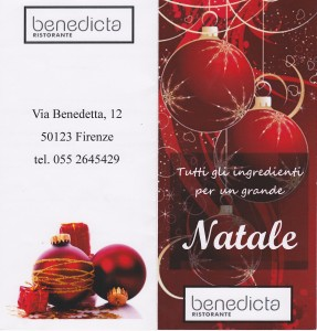 Natale ristorante Benedicta